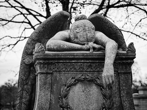 architecture, landscape, sculpture, cemetery, WORLD REGIONS & COUNTRIES, North America, United States of America, Missouri, St. Louis, Calvary Cemetery