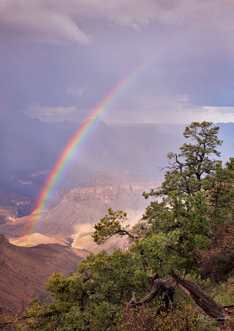Grand Canyon, Grand Canyon National Park, Arizona, rainbow, monsoon