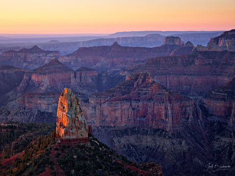 Point Imperial, Mount Hayden, Grand Canyon, Grand Canyon National Park, Arizona, sunrise