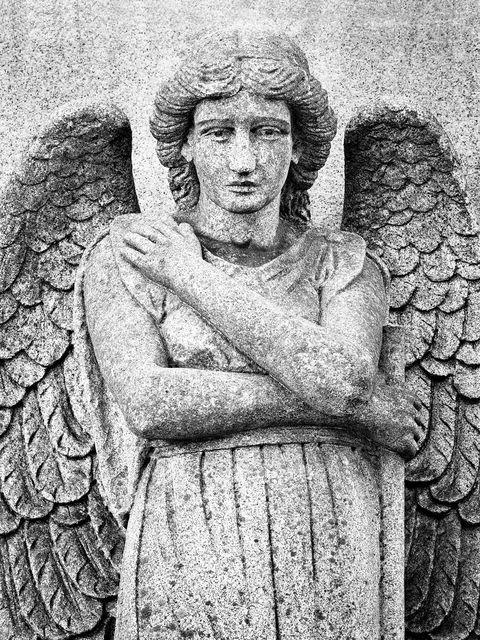 architecture, landscape, sculpture, cemetery, WORLD REGIONS & COUNTRIES, North America, United States of America, Missouri, St. Louis, Calvary Cemetery, death