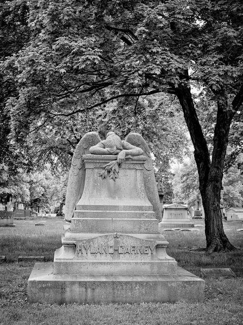 architecture, WORLD REGIONS & COUNTRIES, North America, United States of America, Missouri, St. Louis, Calvary Cemetery, landscape, cemetery, sculpture, death