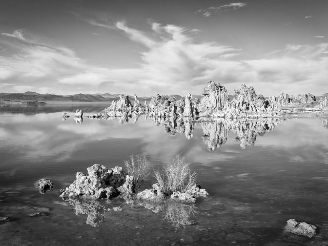WORLD REGIONS & COUNTRIES, North America, United States of America, California, Mono Lake, Eastern Sierra Mountains, environment, scenery, water, lake