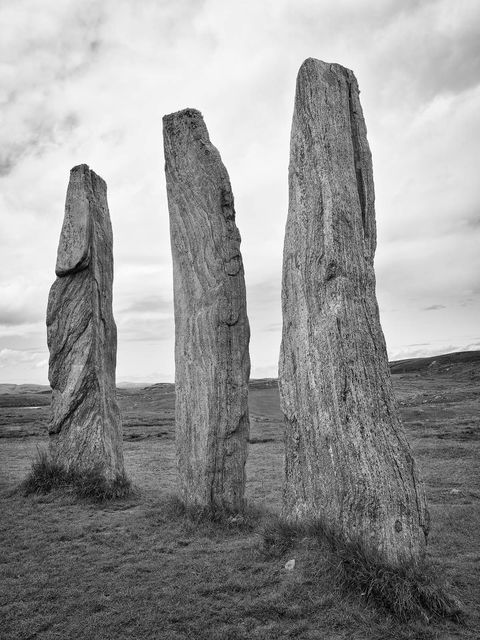WORLD REGIONS & COUNTRIES, Europe, United Kingdom, Scotland, Isle of Lewis, Callanish Stones, art, fine art, sculpture, stone sculpture, environment, scenery, land, stones, stone, concepts, ritual