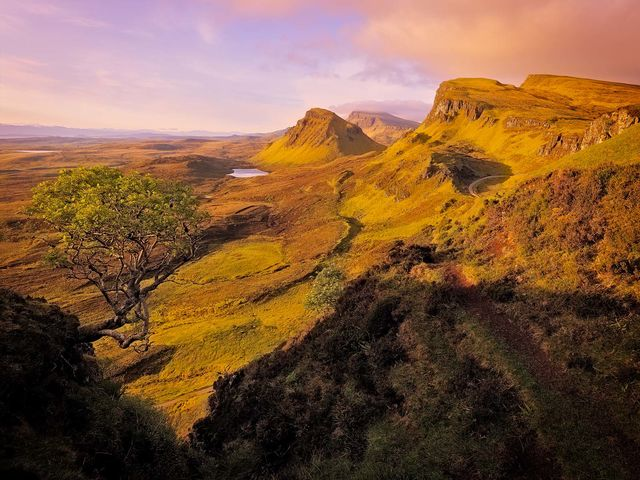 WORLD REGIONS & COUNTRIES, Europe, United Kingdom, Scotland, Isle of Skye, Quiraing, environment, scenery, land, cliff, landscape