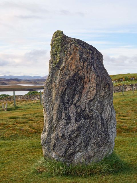 WORLD REGIONS & COUNTRIES, Europe, United Kingdom, Scotland, Isle of Lewis, Callanish Stones, concepts, ritual, art, fine art, sculpture, stone sculpture, environment, scenery, land, stones, stone