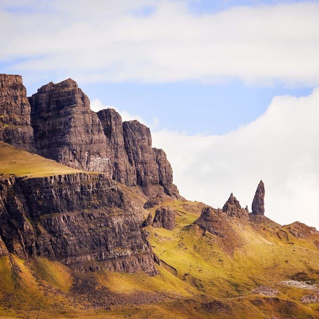 WORLD REGIONS & COUNTRIES, Europe, United Kingdom, Scotland, Isle of Skye, Old Man of Storr, environment, scenery, land, cliff, landscape