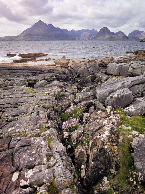 WORLD REGIONS & COUNTRIES, Europe, United Kingdom, Scotland, environment, scenery, land, landscape, stones, stone, Isle of Skye, Elgol, Cuillin Range, Black Cuillin