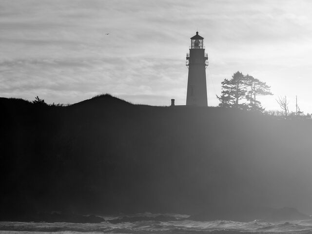 WORLD REGIONS & COUNTRIES, North America, United States of America, Oregon, IMAGE/COLOR/STYLE/FORMAT, BW/COLOR, color, environment, scenery, land, landscape, Starfish Cove, Yaquina Head Lighthouse, IP