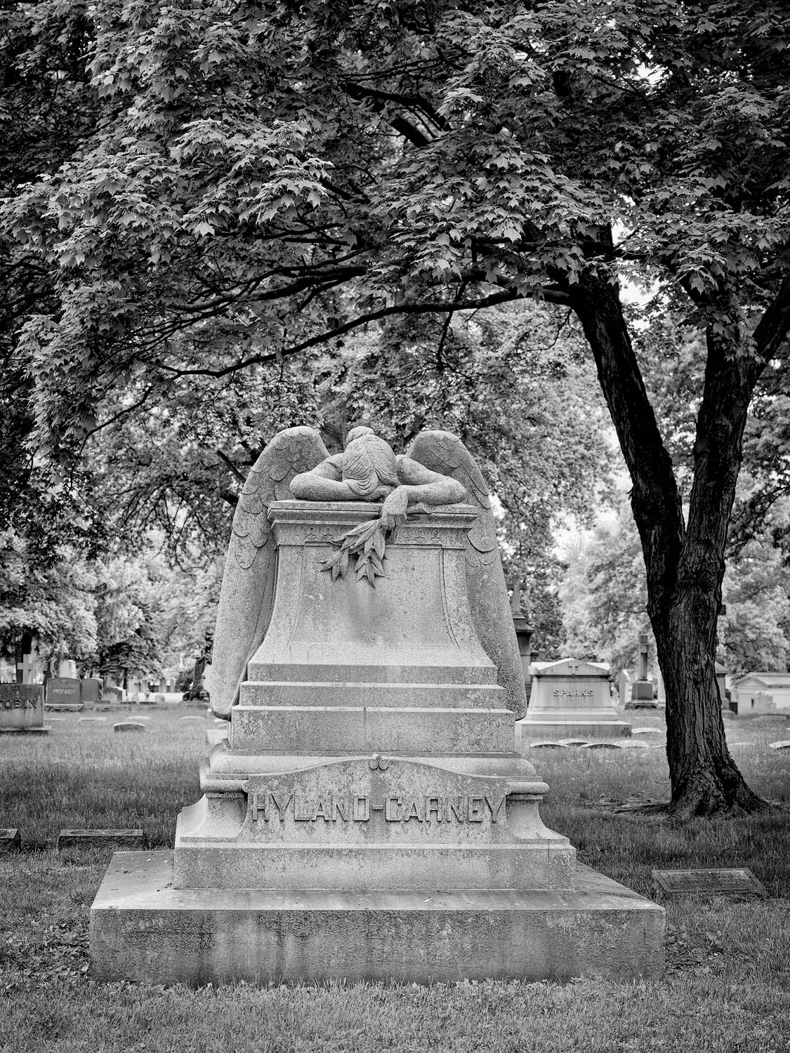 architecture, WORLD REGIONS & COUNTRIES, North America, United States of America, Missouri, St. Louis, Calvary Cemetery, landscape, cemetery, sculpture, death, photo