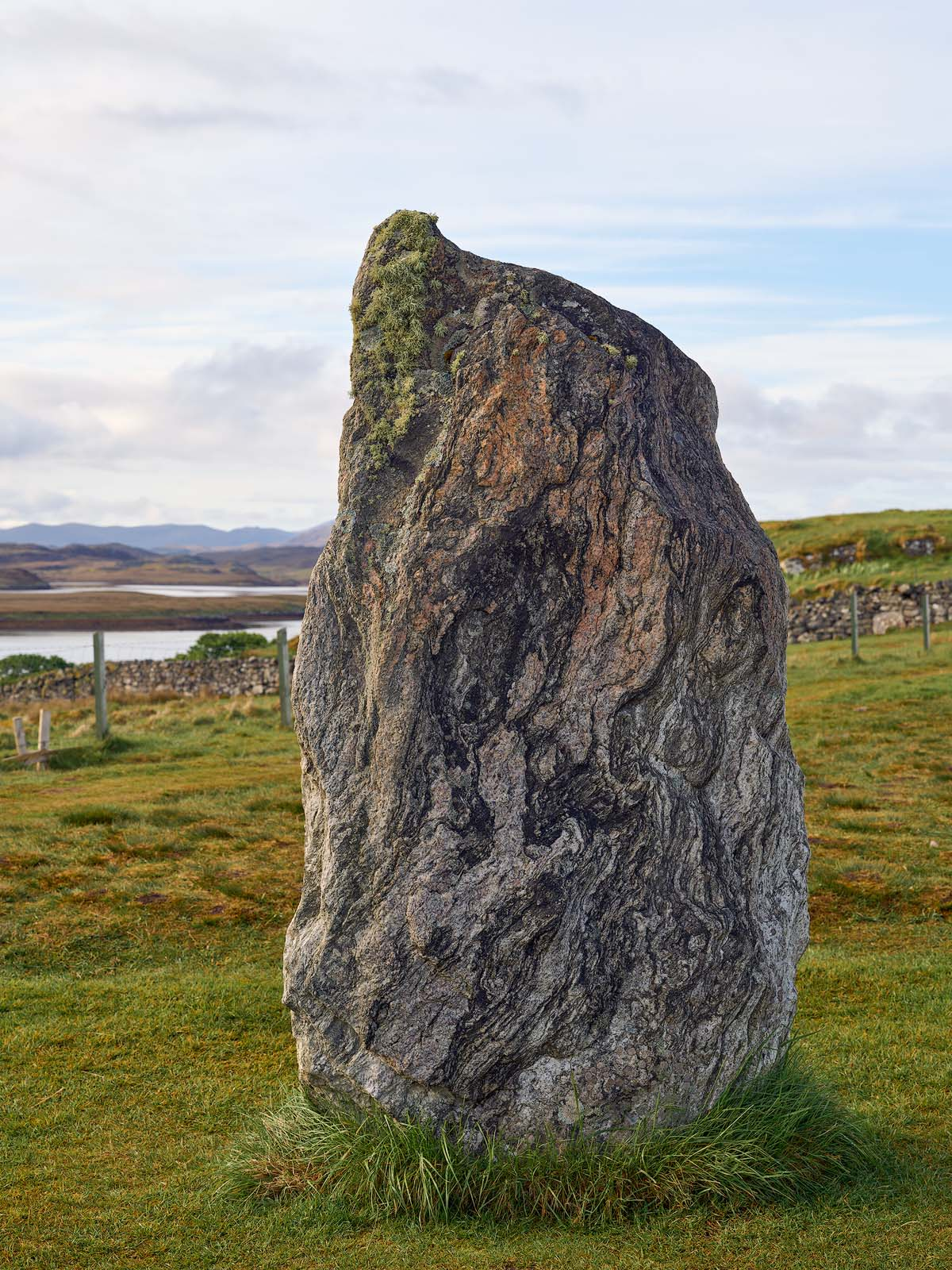 WORLD REGIONS & COUNTRIES, Europe, United Kingdom, Scotland, Isle of Lewis, Callanish Stones, concepts, ritual, art, fine art, sculpture, stone sculpture, environment, scenery, land, stones, stone, photo