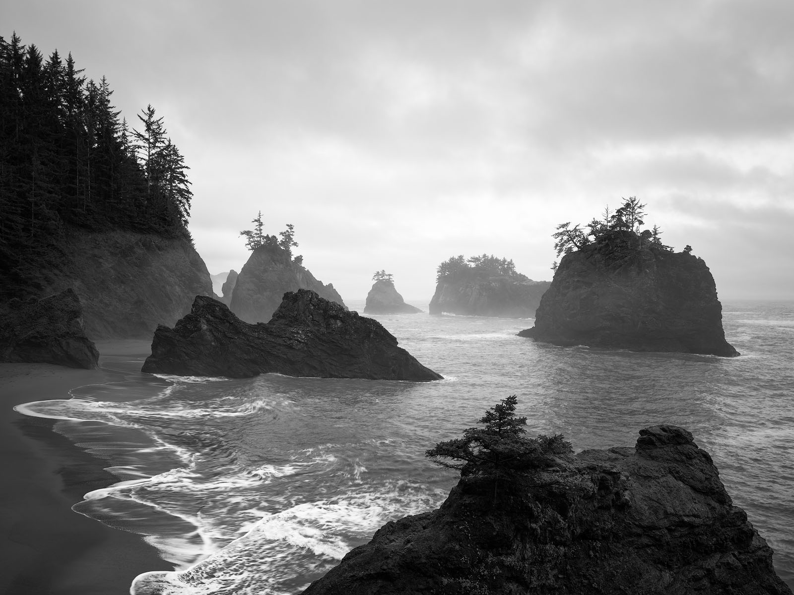 WORLD REGIONS & COUNTRIES, North America, United States of America, Oregon, environment, scenery, land, coast, coastal, coastline, landscape, IMAGE/COLOR/STYLE/FORMAT, BW/COLOR, color, IPTC-SUBJECT, 0, photo